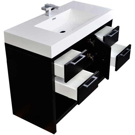 modern bathroom vanity set  black tn  bk