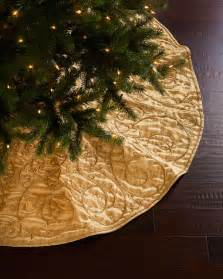 sudha pennathur gold velvet christmas tree skirt christmas tree skirts by horchow