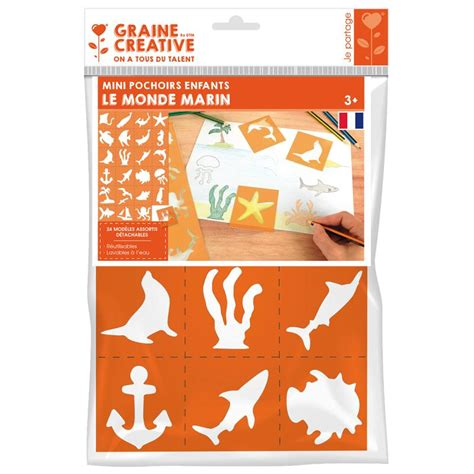 Pochoir Carte Du Monde by Pochoirs En Plastique Monde Marin 24 Pochoirs 7 Cm