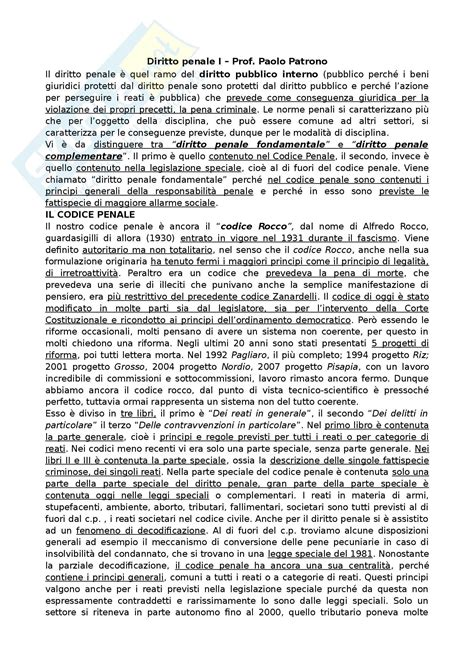 Dispensa Diritto Penale by Diritto Penale I Appunti