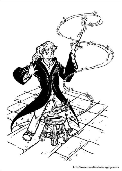 harry potter coloring pages educational fun kids