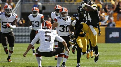 Steelers Antonio Brown returns punt vs. the Browns ...