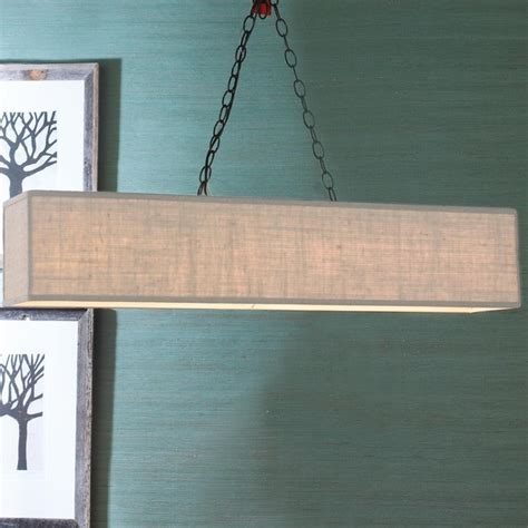 rectangular shade island chandelier 6 colors l
