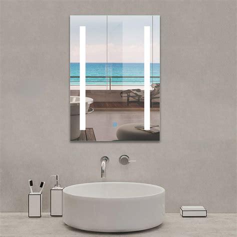 500x700 bathroom mirror with led light demister wall