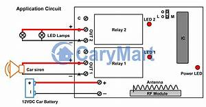 Momentary Remote Switch For Car Siren And Led Lights