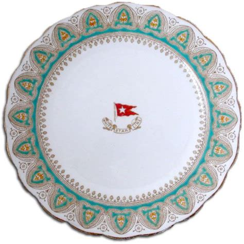 Dinner On A Boat Belfast by Titanic Dinner Plate For First Class Titanic