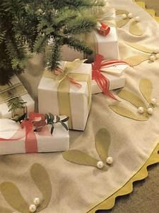 Mistletoe, Applique, Tree, Skirt
