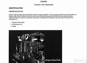 Cummins N14 Engine Shop Manual