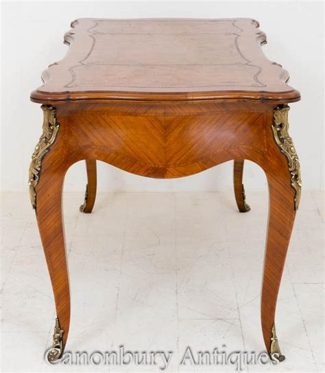 table bureau empire walnut bureau plat desk writing table 1860