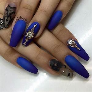long-ombre-blue-matte-nails | nails | Pinterest | Other ...