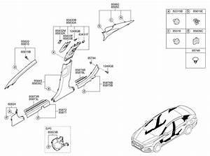 2018 Hyundai Sonata Hybrid Interior Side Trim