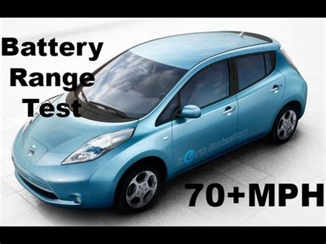 leaf electric car range nissan leaf electric car review 70 mph range test no cuts
