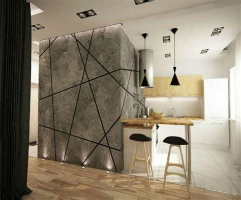 Ideen Kreative Wandgestaltung Küche Essplatz Laminatboden