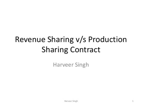 lecture  revenue sharing  production sharing contracts