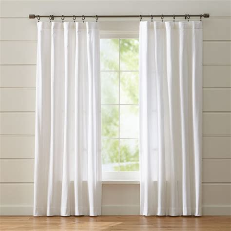 wallace white curtains crate  barrel
