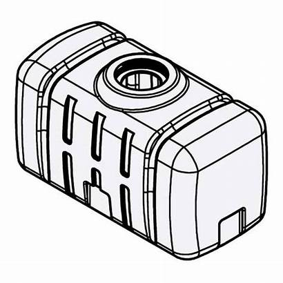 Tank Flat Utility Gallon Bottom Norwesco Drawing