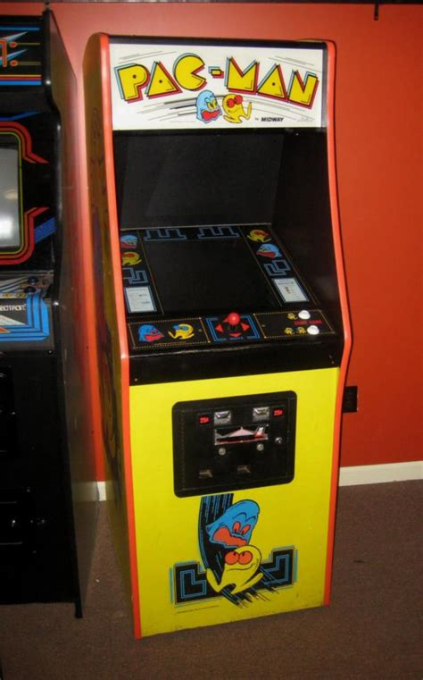 pac man arcade cabinet pac man midway upright arcade game dedicated cabinet