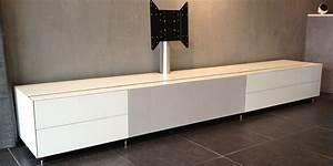 Meuble Tv Haut De Gamme : meuble tv haut de gamme blanc ~ Teatrodelosmanantiales.com Idées de Décoration