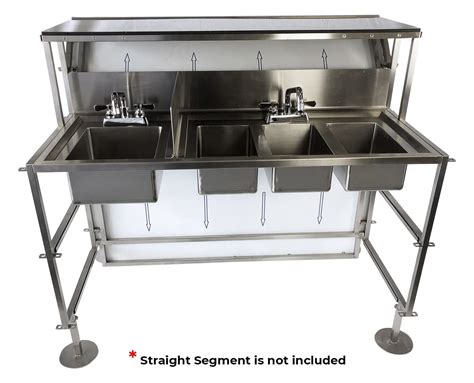 4 Basin Sink Kit With Faucets And Drains