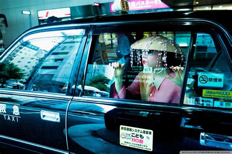 woman taxi travel kyoto japan asia uhd desktop