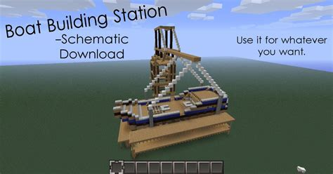 Minecraft Boat Build by Boat Building Schematic Minecraft Project