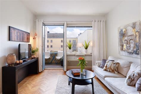 Warmsmalllivingroombalcony  Home Decorating Trends