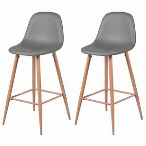 Chaise De Bar Grise : chaise de bar rodrik grise lot de 2 d couvrez nos ~ Voncanada.com Idées de Décoration