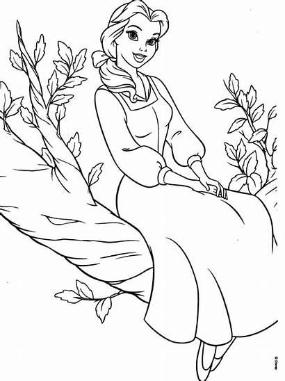 Coloring Belle Princess Disney Beast