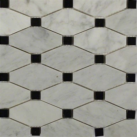 splashback tile diapson white with black dot