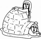 Igloo Coloring Pages Eskimo Making Doghousemusic Own Getcolorings Getdrawings Printable sketch template