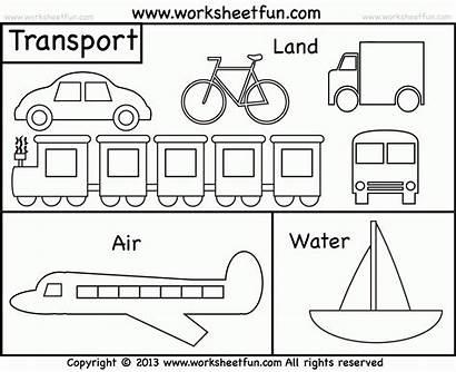Transportation Preschool Means Worksheet Coloring Worksheets Air