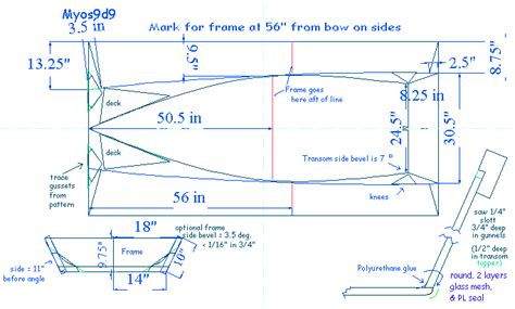 Mini Jet Boat Blueprints by One Sheet Canoe Plans Alum