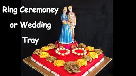 diy how to make decorative ring ceremoney wedding tray