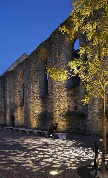 Gobo Light Pole Exterior Romanic Wall Sitting Area