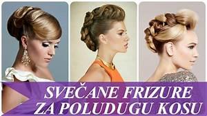 Svečane frizure za poludugu kosu - YouTube