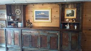 bradley39s furniture etc rustic tv stands With barnwood tv wall
