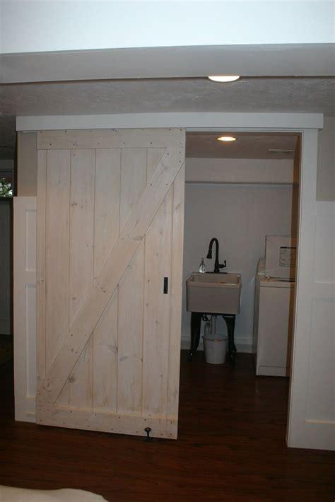 diy sliding barn door stained plywood doors search doors
