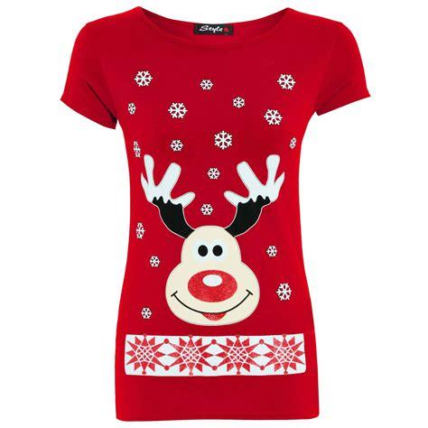 womens christmas xmas santa snowman reindeer stylish