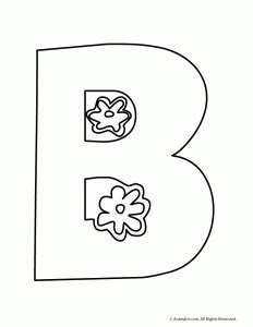 b in bubble letters printable letters flower letters woo jr 20538   b4 232x300