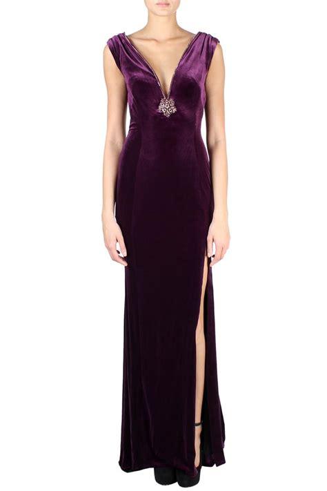 jovani velvet maxi dress purple women dresses  boudi fashion   bond st london