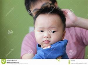 Cute Baby Funny Look Camera With His Father Stock Photos ...