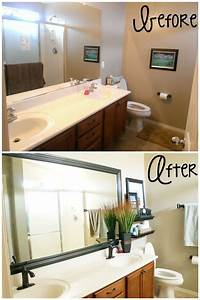 simple bathroom makeovers artenzo With inexpensive bathroom makeover ideas