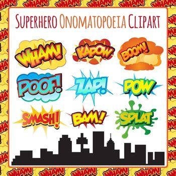 zap wham pow superhero onomatopoeia clip art pack zap boom bam wham