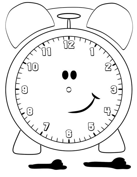 printable clock coloring pages  kids