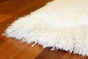 Tapis Shaggy Blanc : tapis shaggy soft deluxe blanc ~ Preciouscoupons.com Idées de Décoration