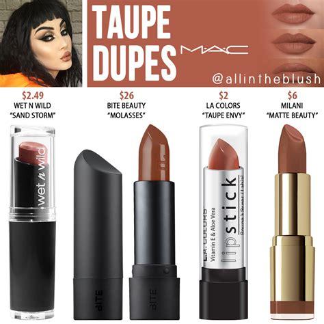 mac taupe lipstick dupes blush