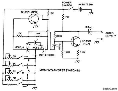 Tone Encoder Analog Circuit Basic