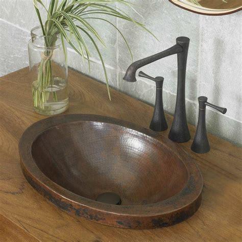 hibiscus    copper drop  bathroom sink