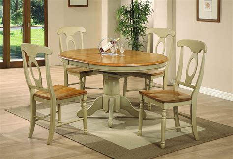 pelican point oval pedestal dining room set  almond