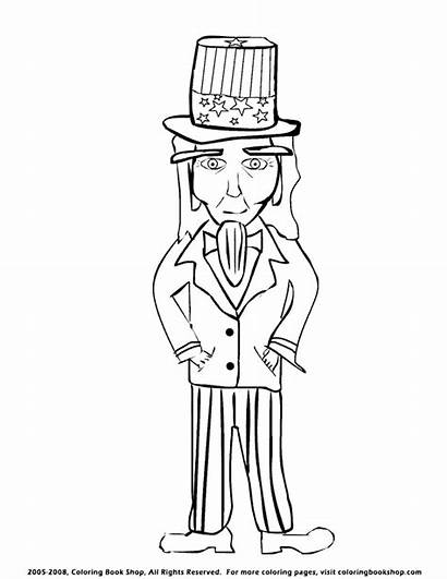 Coloring Pages Uncle Sam Printable Drawing Independence